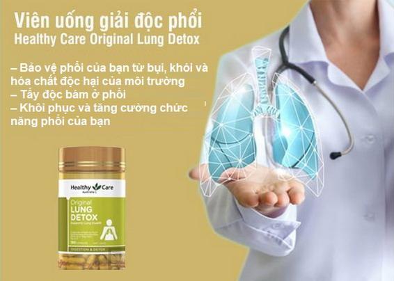 Healthy Care Lung Detox - Giải pháp giúp hồi phục chức năng của Phổi