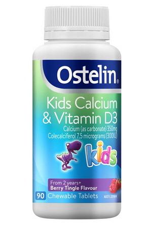 Viên nhai Ostelin Kid Calcium & Vitamin D3 – hộp 90 viên