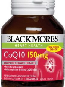 Thuốc bổ tim BlackMores CoQ10 150mg - hộp 30 viên