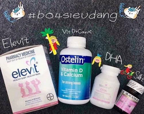 Bộ sản phẩm vitamin tổng hợp cho bà bầu