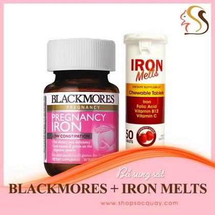 Bổ sung đầy đủ sắt cho cơ thể với sắt Blackmores hoắc sắt nhai Iron Melts