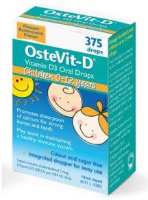 Bổ sung vitamin D (dạng uống) cho trẻ 0-12 tuổi