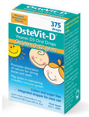 Vitamin D Ostevit-D cho bé 0-12 tuổi