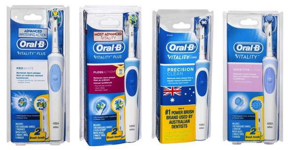 Các loại bàn chải điện Oral-B của Úc