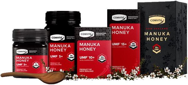 Các loại sản phẩm mật ong Manuka Comvita