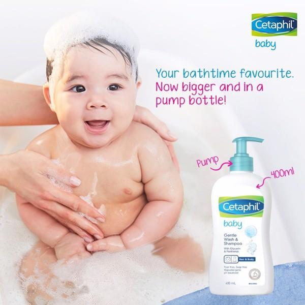 Cetaphil tắm gội toàn thân cho bé - An toàn với trẻ sơ sinh