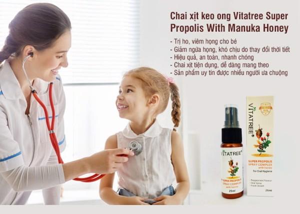 Keo ong Vitatree - Ngay lập tức đẩy lùi cơn ho, làm dịu cảm giác đau rát do viêm họng