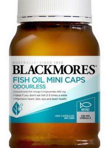 Dầu cá Blackmores Fish Oil 1000mg Odourless Minicap