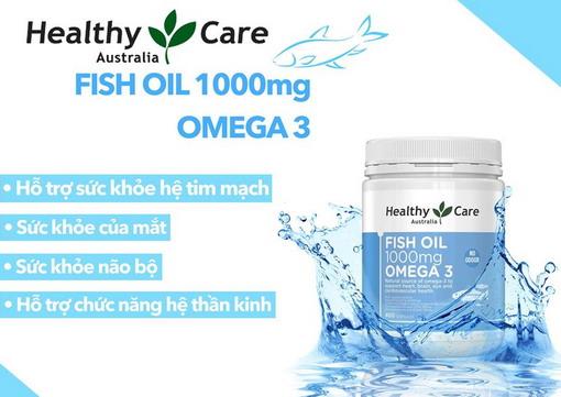 Dầu cá Omega3 Healthy Care - nguồn bổ sung Omega3 tuyệt vời cho cơ thể