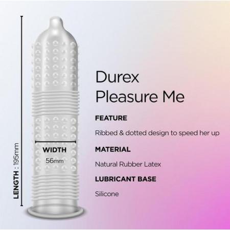 Bao cao su Durex Pleasure Me với các chấm và đường gân tăng khoái cảm khi quan hệ