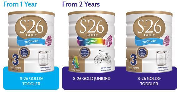 Sữa S26 Gold dành cho các bé từ 1 và 2 tuổi. (Từ 2 tuổi vẫn dùng số 3 được cả nhà nhé)