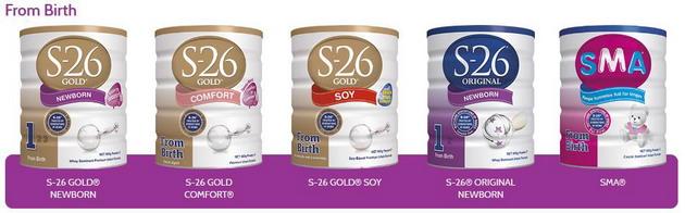 Sữa S26 cho bé từ 0 tháng tuổi. ở Việt Nam chủ yếu dùng loại S26 Gold NewBorn