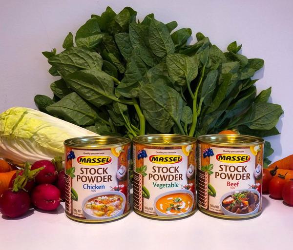 Hạt nêm Úc Massel cho bé với ba vị Rau-Bò-Gà thơm ngon