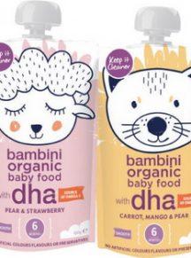Hoa quả nghiền hữu cơ Bambini Úc - 120g