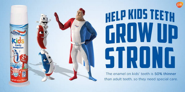 Kem đánh răng Aquafresh Kids Cavity Protection - Cho răng chắc khỏe
