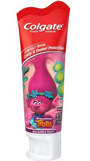 Kem đánh răng Colgate cho trẻ em - vị hoa quả - Hình Trolls