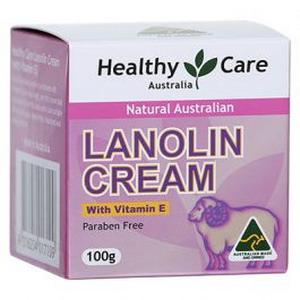 Kem dưỡng da mỡ cừu Lanolin cream HealthyCare (vitamin E)