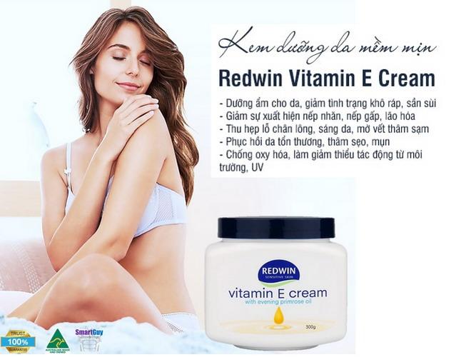 Kem dưỡng redwin vitamin e cream được đánh giá 5 sao tại Úc và bán rất chạy trên thị trường