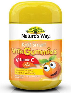 Kẹo dẻo Nature's way Vita gummies Vitamin C + Zinc