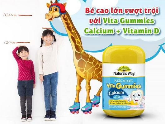 Kẹo KidSmart Canxi & vitamin D Nature's Way