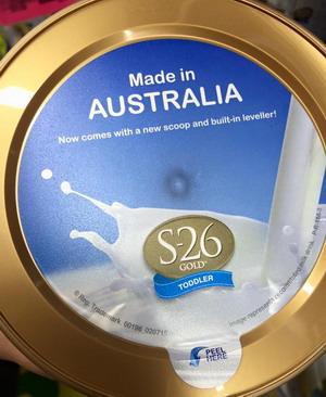 Sữa S26 mẫu mới (số 3 & 4) nắp hộp có dán tem MADE IN AUSTRALIA