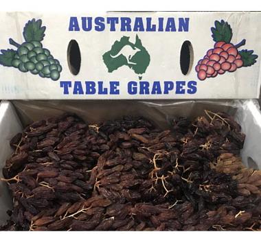 Nho khô nguyên cành Úc Table Grapes thùng 4kg
