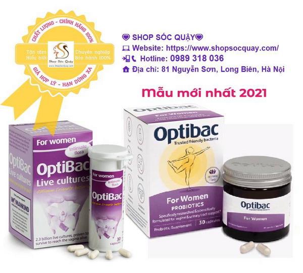 Optibac probiotics tím - Hộp 30 viên - mẫu mới nhất 2021