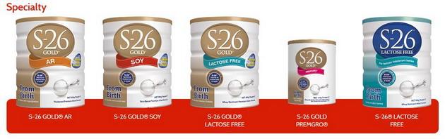 Một số sản phẩm đặc biệt khác của hãng S26 như S26 Đậu Nành, S26 cho bé sinh non, S26 dành cho bé dị ứng với đường Lactose....
