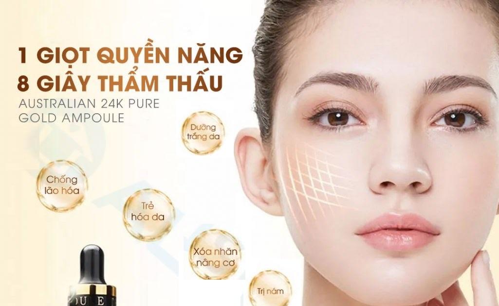 Serum vảy vàng 24k Pure Gold Ampoule - Tăng độ đàn hồi, tái tạo và trẻ hóa làn da của bạn