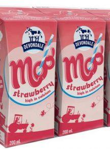 sữa devondale pha sẵn hộp 200ml, vị Dâu tây