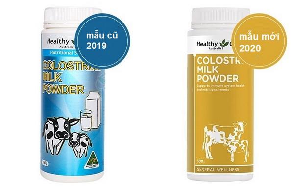 Sữa non Healthycare Colostrum Milk Powder - Mẫu mới 2020 và mẫu cũ 2019