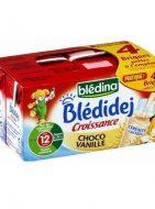 Sữa nước Bledina Pháp vị bánh quy, vani - lốc 4 hộp