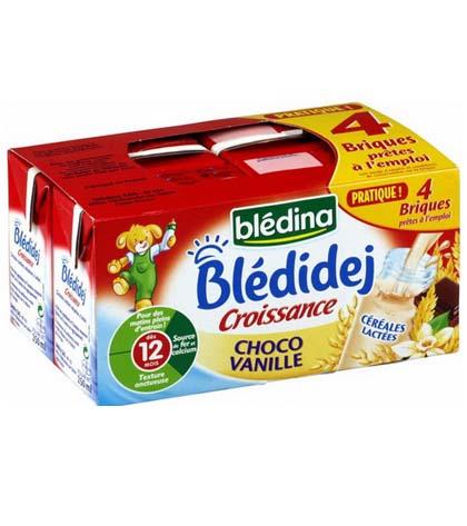 Sữa nước Bledina vị vani (vỉ 4 hộp)