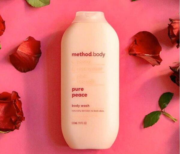 Sữa tắm dưỡng ẩm Method Pure peace (sữa tắm Method Hồng)