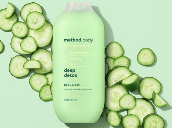 Sữa tắm dưỡng ẩm Method deep detox (sữa tắm Method Xanh)