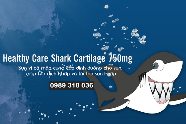 Sụn vi cá mập Úc Healthy Care 750mg - hộp 200 viên