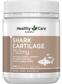 Sụn cá mập Úc HealthyCare 750mg hộp 200 viên - mẫu mới 2020