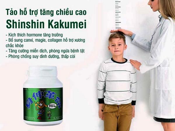 Tảo shinshin kakumei Nhật Bản - Sản phẩm thúc đẩy phát triển chiều cao ở trẻ