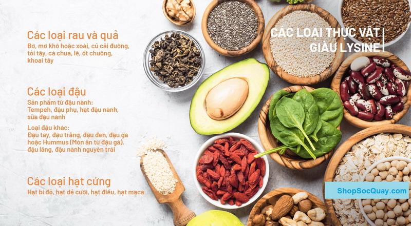 Các loại thực phẩm cung cấp nhiều Lysine cho trẻ