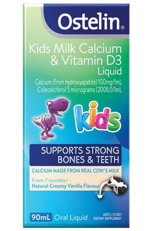Ostelin Kid Milk Calcium Vitamin D3 Liquid 90ml