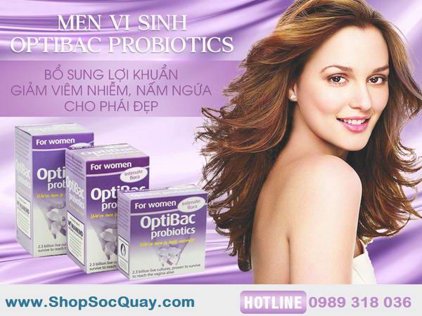 Optibac Probiotics tím - Giải pháp hiệu quả trong điều trị viêm âm đạo cho chị em phụ nữ