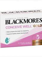 Thuốc tăng khả năng thụ thai cho nữ Blackmores Conceive Well Gold - Mẫu mới 2020