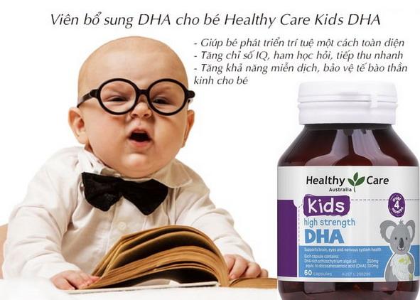 Bổ sung DHA cho bé phát triển trí não, thị lực ngay từ nhỏ