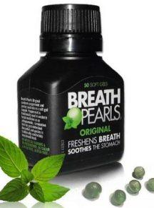 Viên ngậm thơm miệng Breath Pearls Úc - hộp 50 viên