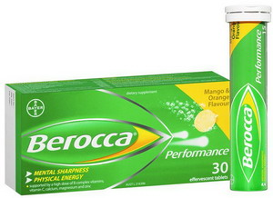 Bổ sung vitamin Berocca Úc - hộp 30 viên (2 tuýp)