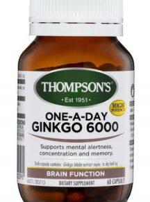 Viên uống bổ não hỗ trợ tuần hoàn não Thompson's Ginkgo 6000 mg