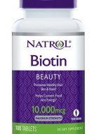 Viên uống mọc tóc Natrol Biotin 10.000 mcg - hỗ trợ tóc đẹp, móng khỏe
