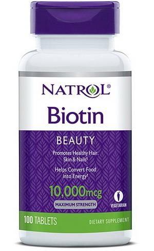 Viên uống mọc tóc Natrol Biotin 10.000 mcg