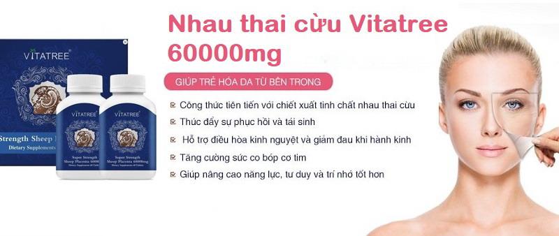 Viên uống nhau thai cừu vitatree sheep placenta 60000mg - Giúp trẻ hóa làn da