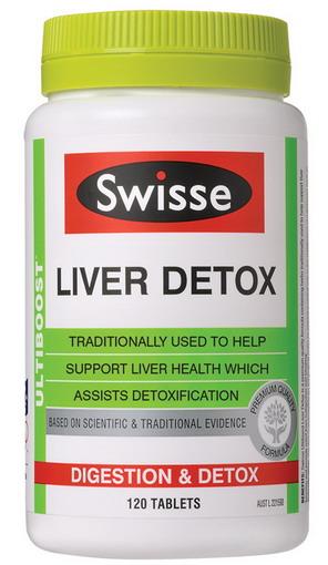 Viên uống bổ và thải độc gan Swisse Liver Detox - 120 viên